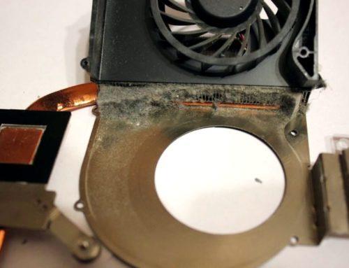 Чистка ноутбука от пыли, замена термопасты